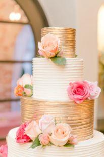 50 Gold Wedding Cakes Ideas 1