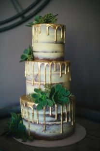 50 Gold Wedding Cakes Ideas 10