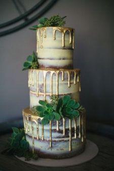 50 Gold Wedding Cakes Ideas 10