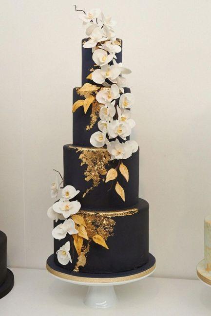 50 Gold Wedding Cakes Ideas 12