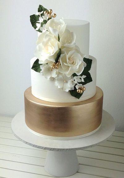50 Gold Wedding Cakes Ideas 13