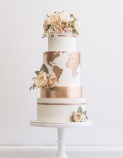 50 Gold Wedding Cakes Ideas 21
