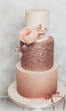 50 Gold Wedding Cakes Ideas 29