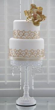 50 Gold Wedding Cakes Ideas 30