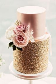 50 Gold Wedding Cakes Ideas 36