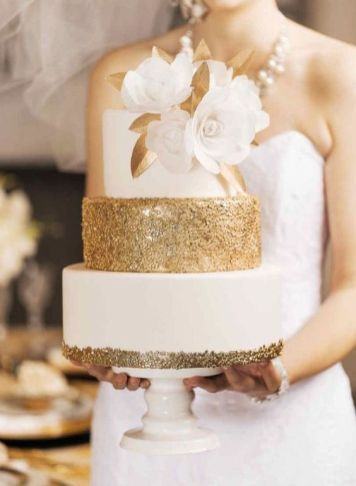50 Gold Wedding Cakes Ideas 37