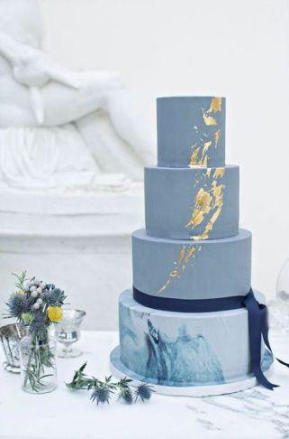 50 Gold Wedding Cakes Ideas 38
