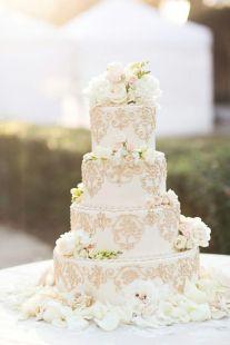 50 Gold Wedding Cakes Ideas 4