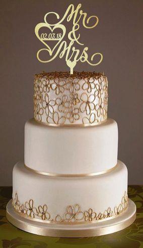 50 Gold Wedding Cakes Ideas 41