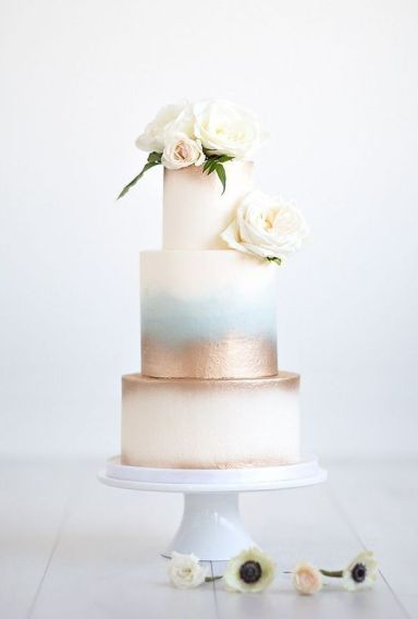 50 Gold Wedding Cakes Ideas 45