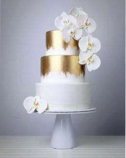 50 Gold Wedding Cakes Ideas 49