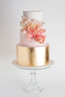 50 Gold Wedding Cakes Ideas 55