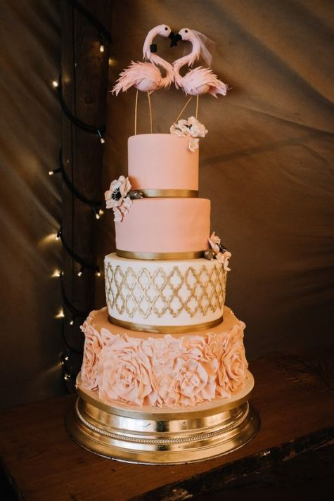 50 Gold Wedding Cakes Ideas 8