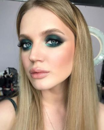 50 Green Eyes Makeup Ideas 11