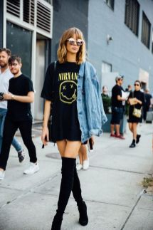 50 How to Wear an Oversized T Shirt Ideas 14