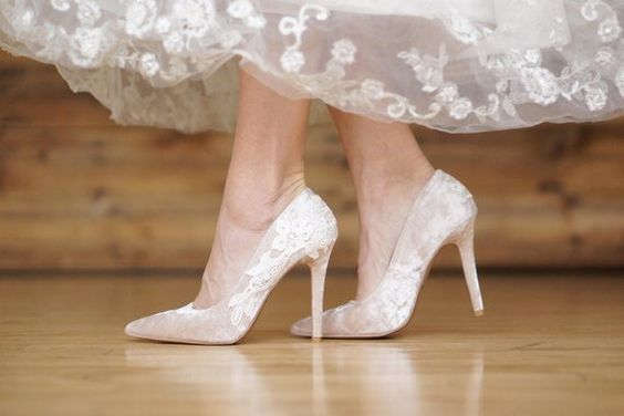 50 Lace Heels Bridal Shoes Ideas 25