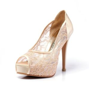 50 Lace Heels Bridal Shoes Ideas 42