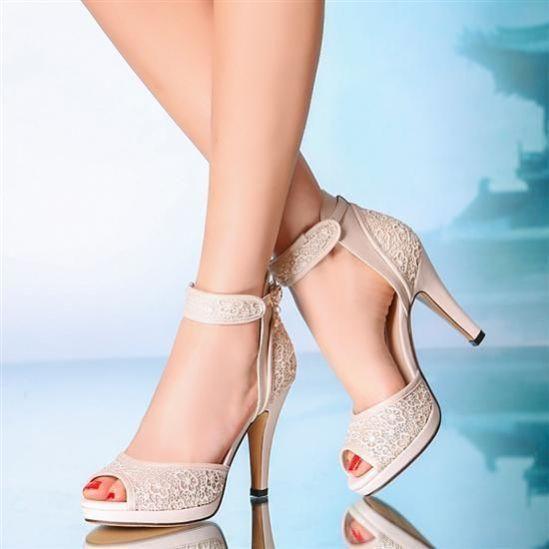 50 Lace Heels Bridal Shoes Ideas 48