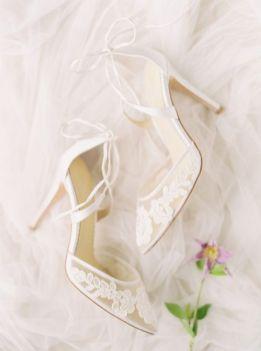 50 Lace Heels Bridal Shoes Ideas 6