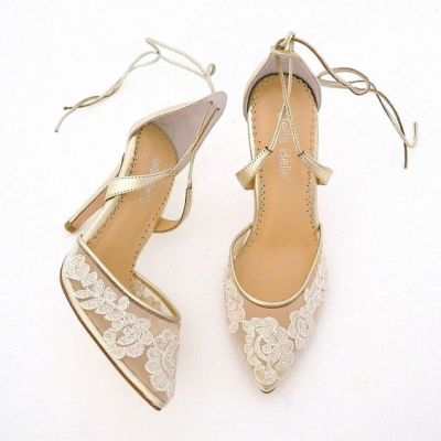 50 Lace Heels Bridal Shoes Ideas 8