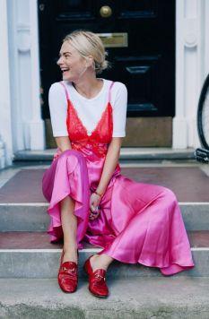 50 Möglichkeiten rosafarbene Outfits Ideen zu tragen 17
