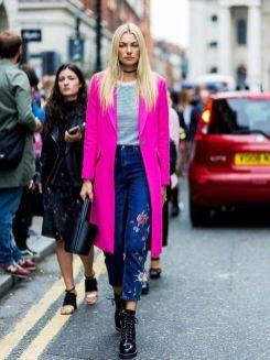50 Möglichkeiten rosafarbene Outfits Ideen zu tragen 19