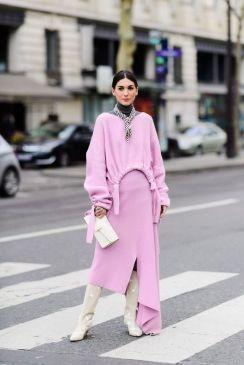 50 Möglichkeiten rosafarbene Outfits Ideen zu tragen 28