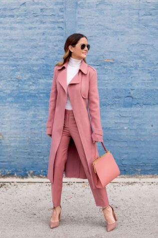 50 Möglichkeiten rosafarbene Outfits Ideen zu tragen 44