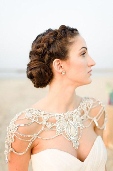 50 Shoulder Necklaces for Brides Ideas 12