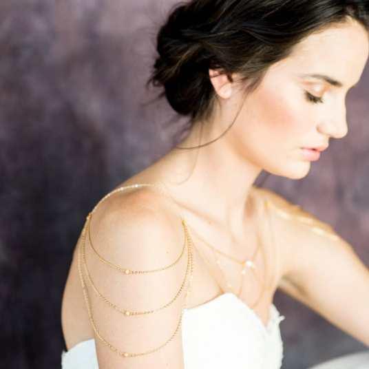 50 Shoulder Necklaces for Brides Ideas 23