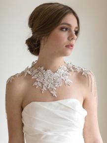 50 Shoulder Necklaces for Brides Ideas 3