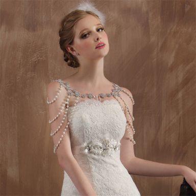 50 Shoulder Necklaces for Brides Ideas 43