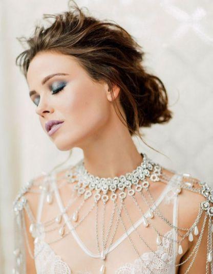 50 Shoulder Necklaces for Brides Ideas 7