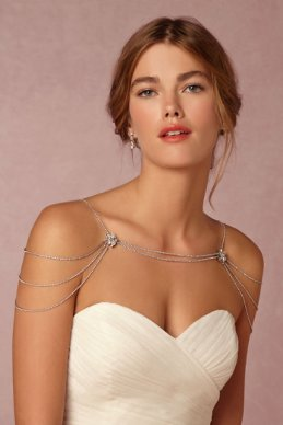 50 Shoulder Necklaces for Brides Ideas 9