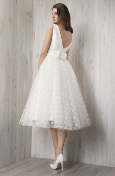 50 Tea Length Dresses For Brides Ideas 10 3