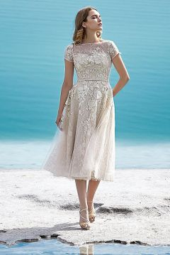 50 Tea Length Dresses For Brides Ideas 11 3