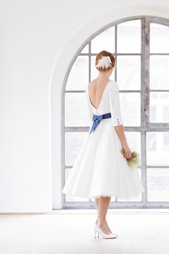 50 Tea Length Dresses For Brides Ideas 13 3
