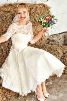 50 Tea Length Dresses For Brides Ideas 3 3