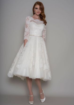 50 Tea Length Dresses For Brides Ideas 31 3