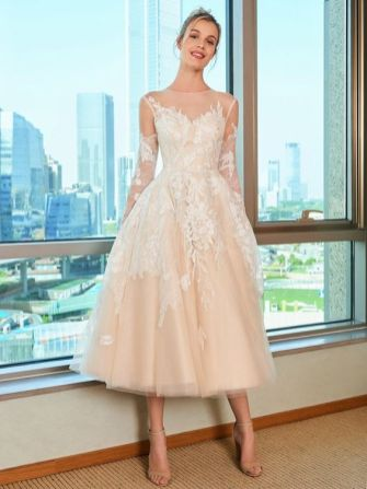 50 Tea Length Dresses For Brides Ideas 33 3