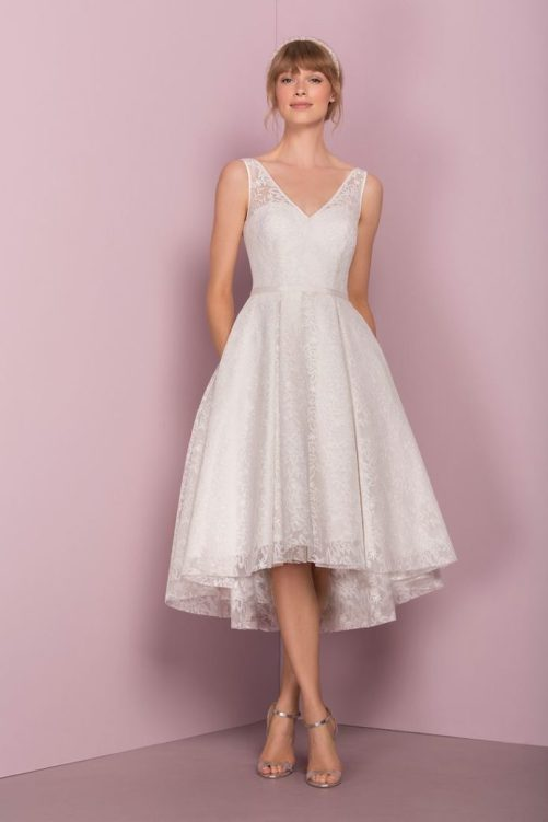 50 Tea Length Dresses For Brides Ideas 51 3