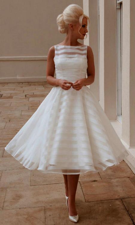 50 Tea Length Dresses For Brides Ideas 52 3