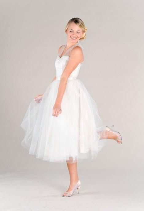 50 Tea Length Dresses For Brides Ideas 53 3