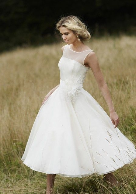 50 Tea Length Dresses For Brides Ideas 54 3