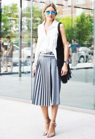 50 White Sleeveless Top Outfits Ideas 31