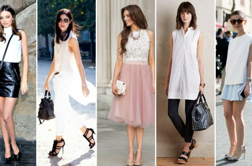 50 White Sleeveless Top Outfits Ideas