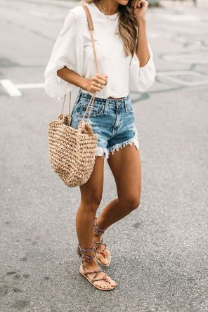 50 Woven and Bamboo Bags for Summer Ideas 19