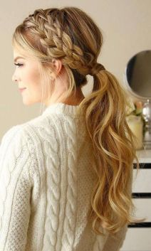 30 Simple Long Hairstyles for Party Look Ideas 12 1