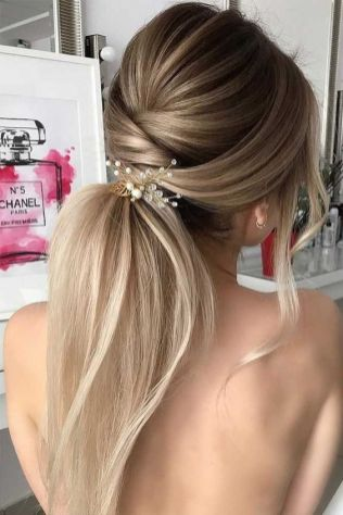 30 Simple Long Hairstyles for Party Look Ideas 23