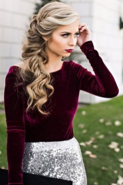 30 Simple Long Hairstyles for Party Look Ideas 29
